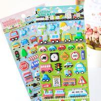 新款泡棉贴纸儿童汽车立体贴画 创意装饰手账diy相册儿童玩具批发