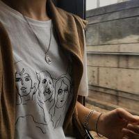 新款88折纯银饰品原创天使宝宝项链纯银ins复古风文艺小众设计