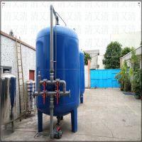 梅州市碳钢不锈钢压力罐衬胶衬塑石英砂活性炭锰砂过滤机器设备