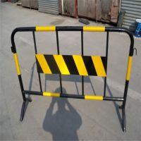 黄黑铁马临时护栏 移动不锈钢护栏