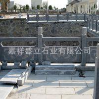 厂家批发青石栏杆栏板 景区河道护栏 线雕石栏杆