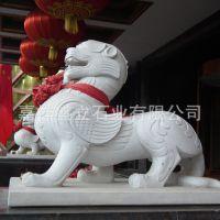 供应精美汉白玉石材貔貅 守财动物雕塑貔貅 神兽貔貅