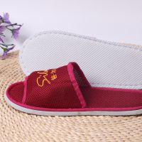 医学美容院养生会所客用非一次性网眼布拖鞋刺绣LOGO加密加厚鞋底