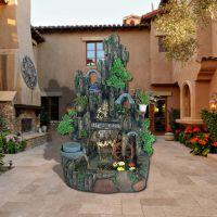 树脂工艺品摆件 别墅庭院装饰微景观 公园景区假山流水喷泉定制