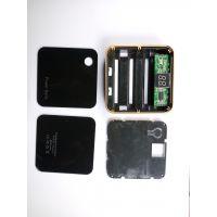 供应 魔方移动电源外壳 充电宝 双USB 3节18650电池