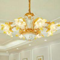 客厅吊灯现代创意卧室餐厅酒店美式水晶灯具