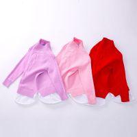 1291H 儿童女童秋冬新款纯色针织打底衫童装半高领细毛线衣 批发