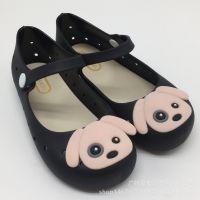 2018新款可爱小狗小童中童果冻童凉鞋童鞋搭扣公主单鞋防滑舒适