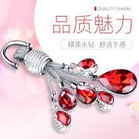 奥迪宝马汽车钥匙扣奔驰钥匙链镶钻水晶车钥匙挂件饰品女士