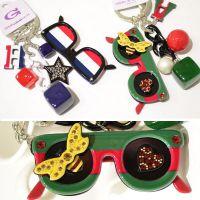 YSK0273 GrainDeBeauteAznavour阿兹娜韩国时尚墨镜钥匙扣