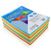 天色 彩色复印纸A4打印用纸80g彩色纸彩纸粉红黄绿蓝剪纸手工折纸