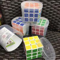 儿童益智玩具智力顺滑三阶魔方学生奖品魔方卡通桶装魔方比赛专用