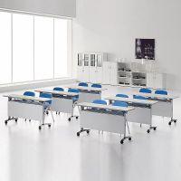 板式折叠培训桌子移动条形课桌长条折叠桌条形学生培训台可定制