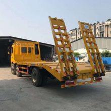 江淮挖机运输车 前四后四平板运输车 25吨挖机运输车