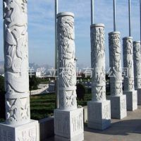 厂家直销大型石雕文化柱子 华表图腾柱 广场罗马柱