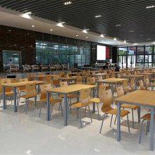 钢木结构桌椅批发,大学师生饭堂桌椅定做