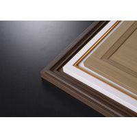 轻奢极简风免漆拼框包覆门板-大连高端工程单实木橱柜衣柜全屋定制-无台面