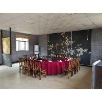广东省酒店实木餐桌椅 天饭店用的火烧木餐桌椅 咖啡厅实木桌椅