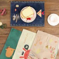 桌面简约好看桌布餐具便携印花用小学生桌垫西餐垫吃饭餐垫卡通