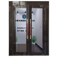 广东玻璃防火门厂促销乙级黑钛不锈钢玻璃防火门有消防S标