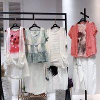 杭州一线品牌女装华丹尼19夏季新款品牌女装折扣货源哪里有专柜正品折扣货源淑女外套
