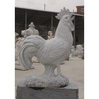供应汉白玉公鸡大理石生肖鸡工艺品摆件石雕十二生肖动物雕塑定制