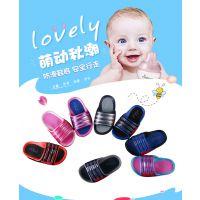 新款夏季儿童带灯闪光 男女童凉鞋休闲发光沙滩鞋 软底学步拖鞋