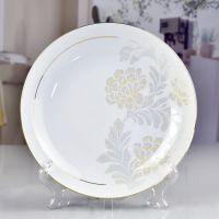 厂家直销骨瓷盘子新款陶瓷家用8寸饭盘 餐厅酒店用盘碗餐具批发