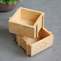 家居日用日本桌面收纳盒储物盒复古木盒定制多肉植物花盆厂家直销