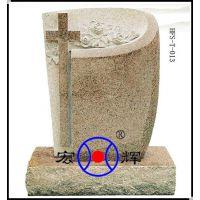 工厂直销 锈石欧式墓碑 十字架石碑 花岗岩欧碑