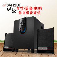 Sansui/山水 GS-6000(11A)台式有源音箱笔记本电脑音响低音炮影响