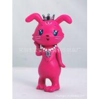 搪胶兔娃娃公仔 环保材质动物玩偶定做儿童零钱存钱罐