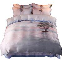 60支天丝四件套夏季冰丝床上用品床笠被套夏凉裸睡床单1.8m米双人