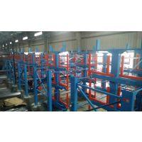 深圳客户现场安装 伸缩式管材货架 钢管存放架 10米钢管仓储架