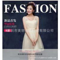 新款韩版学生高贵生日派对宴会聚会短款小礼服女连衣裙晚礼服