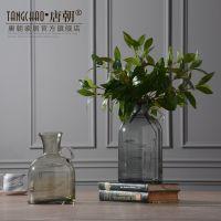 设计师款 家居饰品仿真花束绿叶 客厅餐桌整体假花艺摆件设装饰品