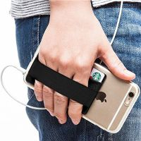 定做3m防消磁莱卡布手机贴卡套 绑带手机卡贴 定制LOGO
