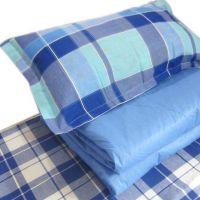医院床单被罩枕套纯棉三件套 宾馆学校床上用品批发包邮现货布草