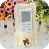 可爱卡通幸运熊遥控器套田园蕾丝布艺电视空调遥控器保护套10g