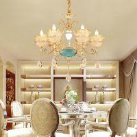 新中式吊灯 现代锌合金灯 客厅灯别墅餐厅卧室中国风灯具