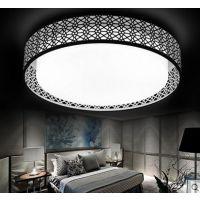LED吸顶灯圆形客厅阑珊边框铁艺简约现代卧室书房餐厅灯饰灯
