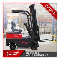 中叉CPD10 1.0吨锂电座驾式搬运叉车/四轮环保电动叉车