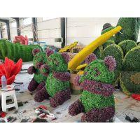 生肖猪 猪年绿雕仿真雕塑造型 春节主题雕塑造型 环保材质绿雕造型