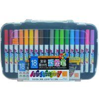 渲染耐水性diy彩绘笔18色彩色陶瓷笔 T恤涂鸦布绘水彩笔无毒