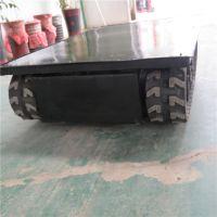 .订做遥控电动履带底盘 电动橡胶履带底盘 变速箱履带底盘