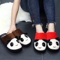 熊猫拖鞋秋冬季亲子棉拖鞋加厚底防滑室内 可爱男女情侣居家棉拖