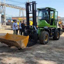 山西大同垃圾填埋厂专用3吨半越野叉车叉垃圾用爬坡没问题