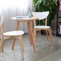 泽凡诺实木洽谈桌咖啡桌北欧小圆桌子餐桌简约休闲圆桌餐桌椅组合