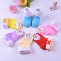厂家批发]婴儿纯棉袜春秋宝宝袜 翻边蝴蝶结儿童袜糖果袜