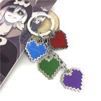 游戏传说之下心形项链钥匙扣套装4款Undertale周边金属饰品礼物